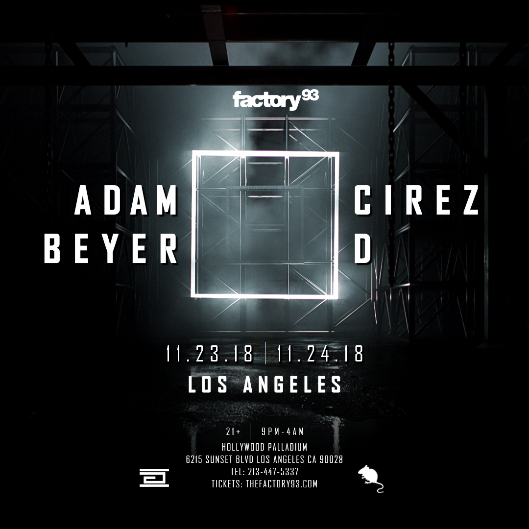 Adam Beyer x Cirez D
